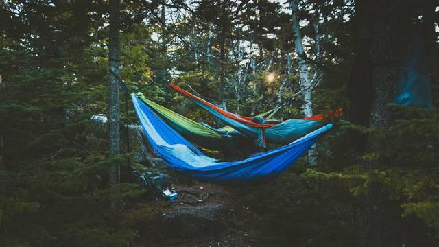 Zelten in freiem Gelände